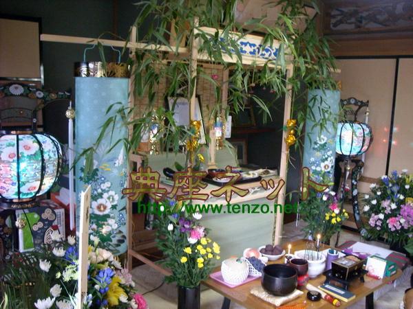 お盆棚、お盆飾りの一例