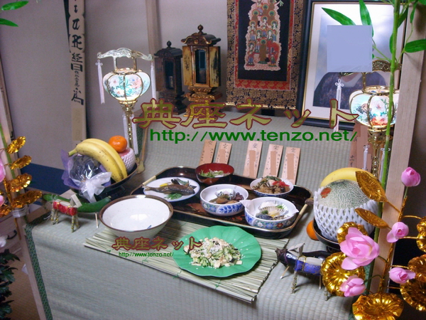 ご家庭でのお盆飾りの一例