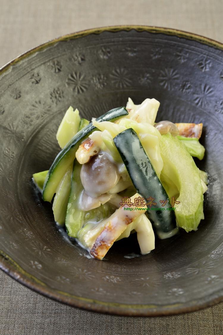 ズッキーニの辛子酢味噌和合