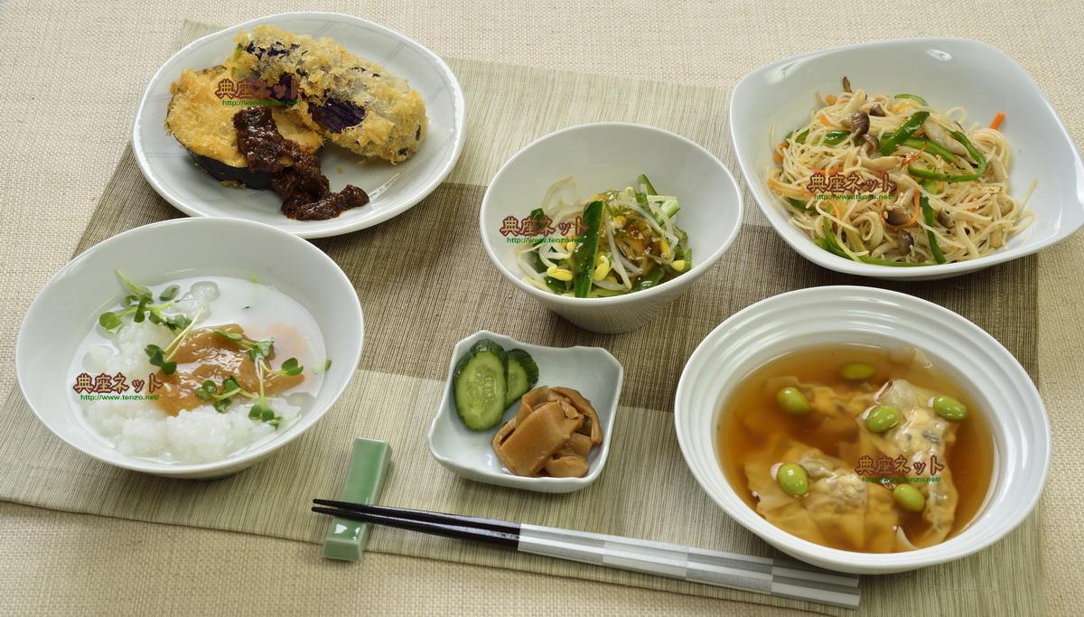 平成30年7月盆の精進料理お供え膳