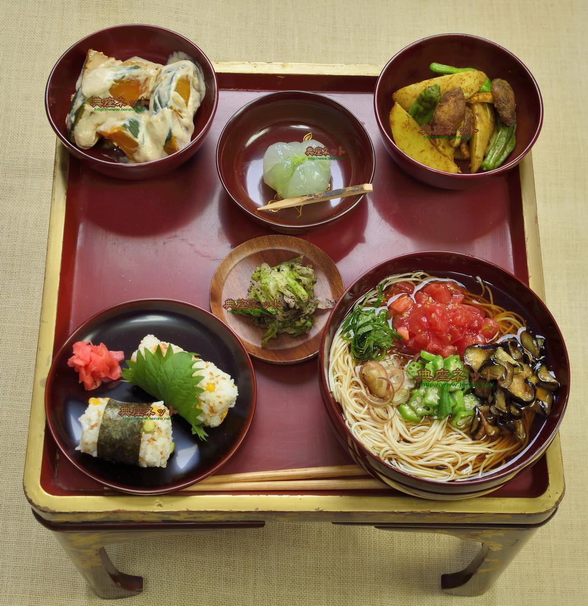 平成30年8月盆のお供え精進料理膳