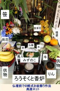 東京のお盆・仏壇前に設ける本格的お盆棚の作法