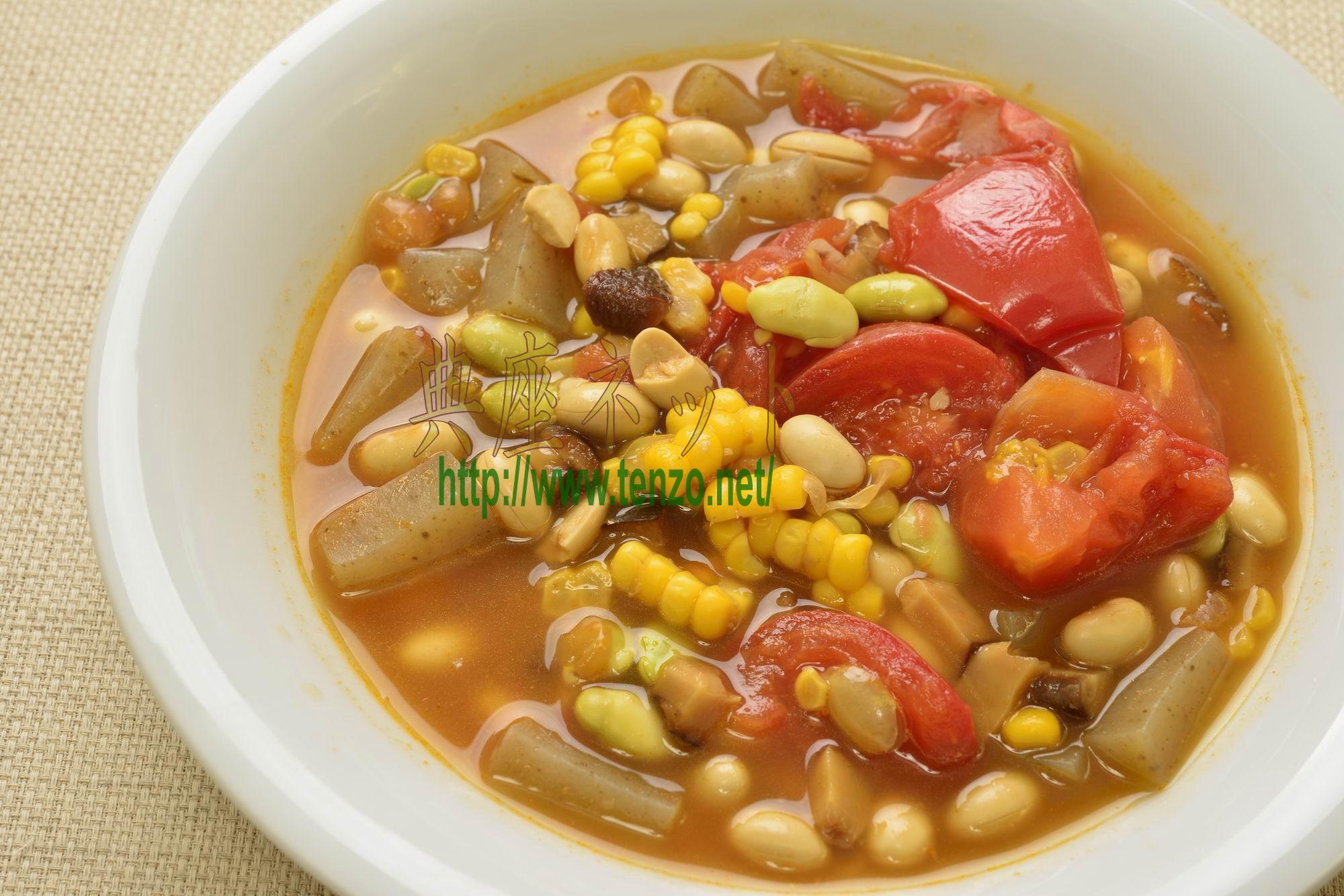 夏野菜の大豆汁